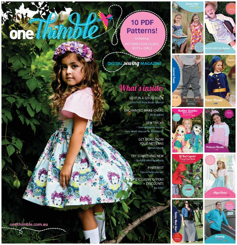 One Thimble Issue 7 and Included PDF Sewing Patterns