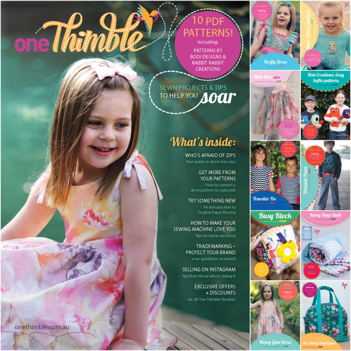 One Thimble issue 4 - included PDF sewing patterns