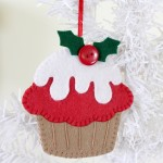 Felt Cupcake ornament One Thimble Issue 9