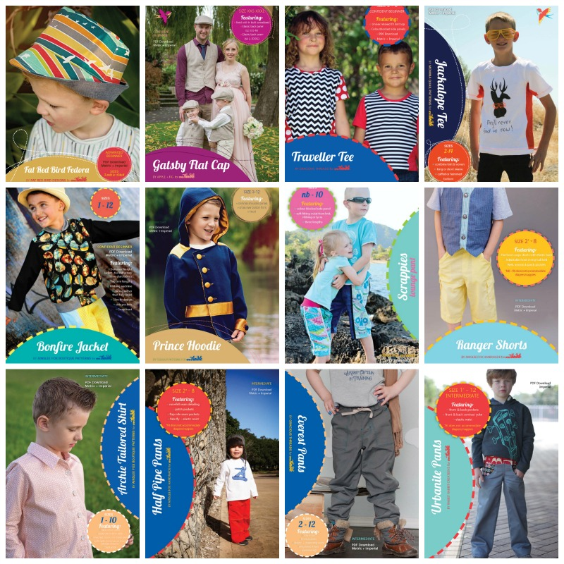Boys Clothing to sew with One Thimble Patterns