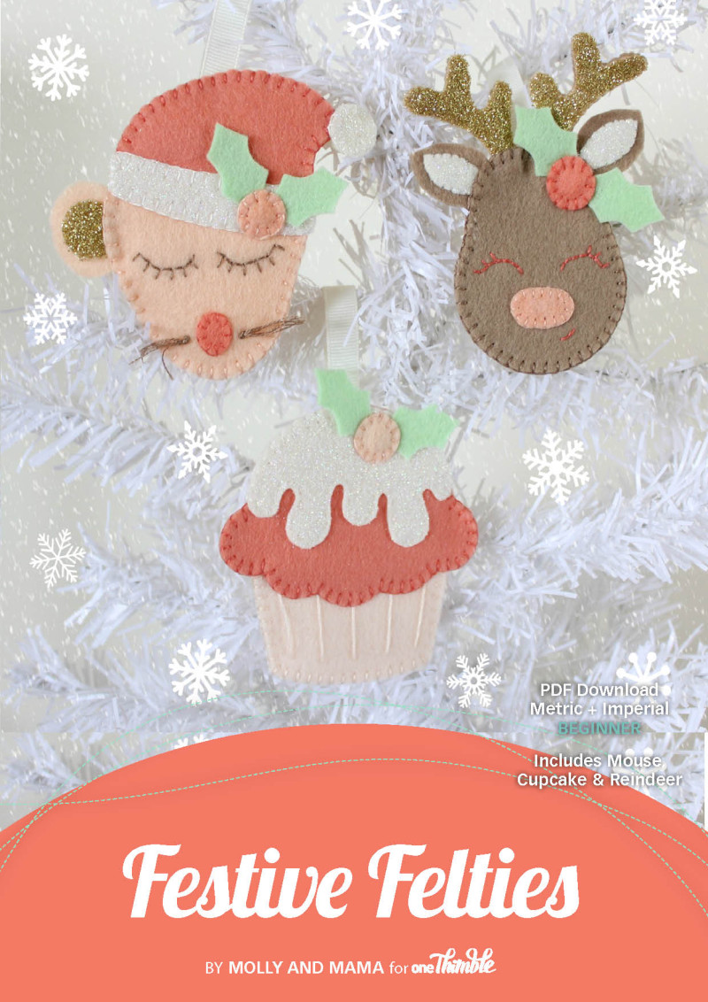 Festive Felties Single PDF Pattern Cover
