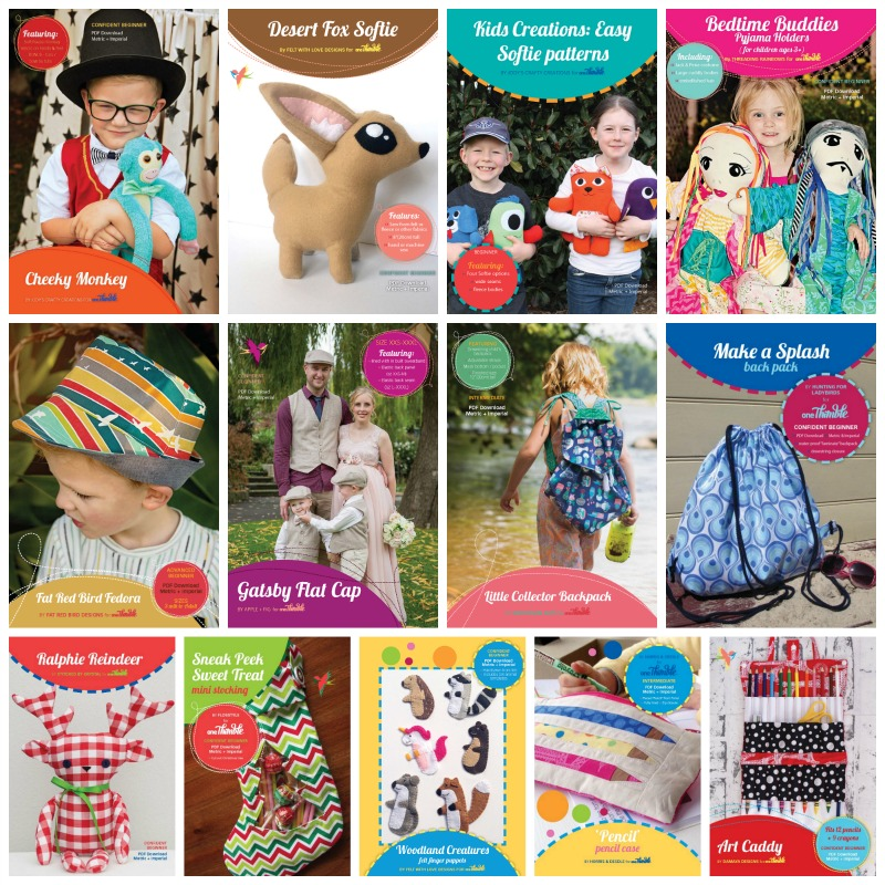 Gifts to sew boys using One Thimble Patterns