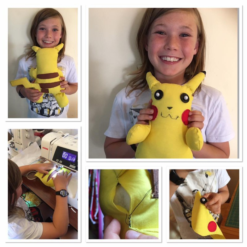 Sewing a Pikachu Friend