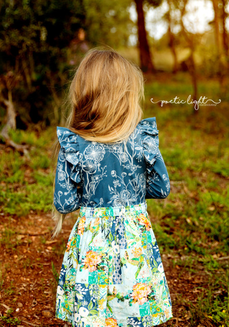 Back of long sleeve Willow Dress - photographed by Poetic Light Photography