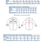 Body Measurements Tables Willow Shirt