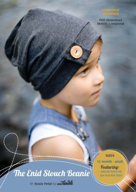 Enid Slouch Beanie Stand Alone Cover from One Thimble Issue 10