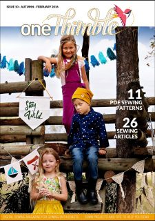 One Thimble Digital Sewing Magazine Issue 10 Cover