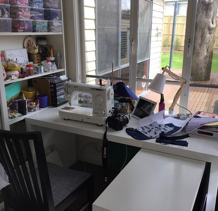 Emkie Designs Sewing Space