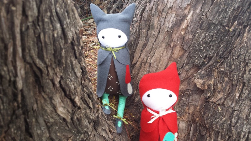 Softies with felt capes