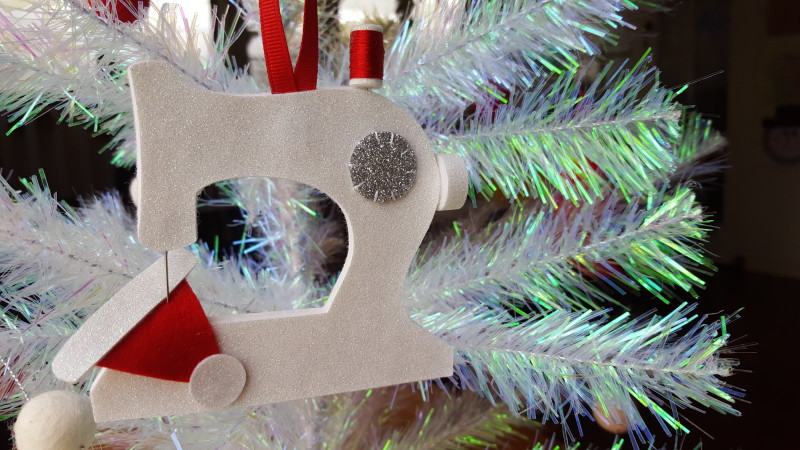 Christmas Decoration made with glitter felt