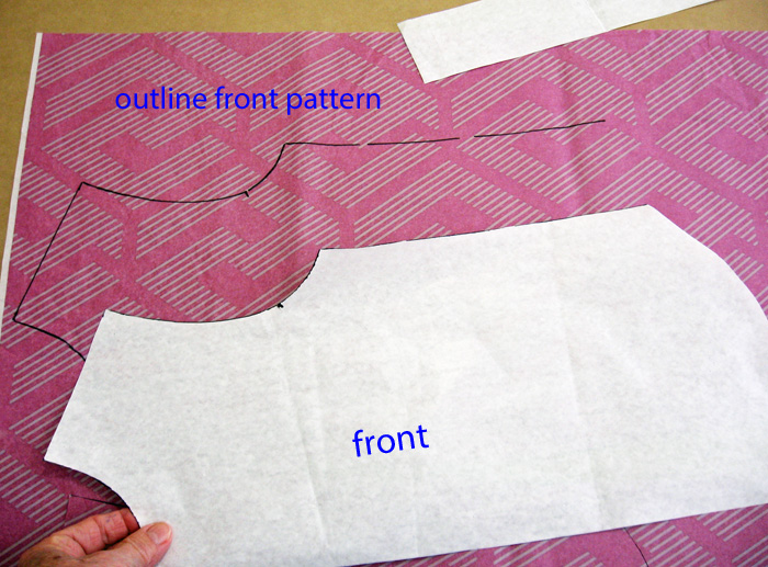 Lengthen the front and facing patterns