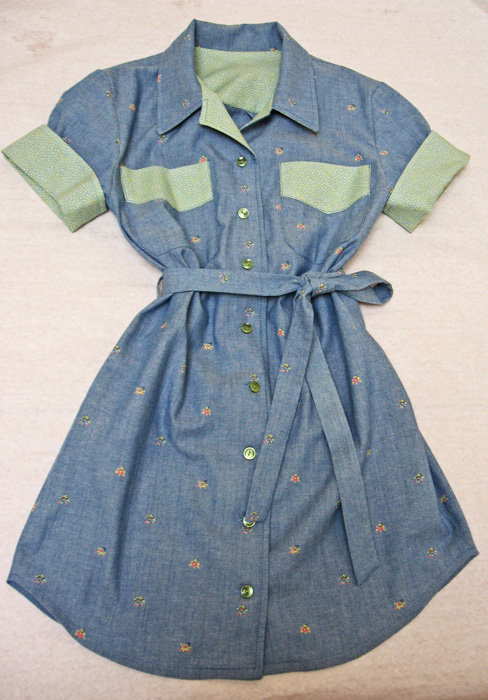 Front of Willow Shirt Dress with tie