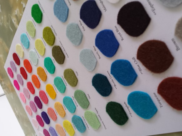 Wool felt colour selection