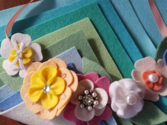 Hair accessories made with wool felt