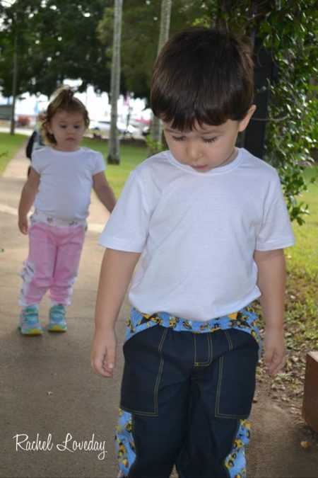 Adventurer Pants for boys and girls sewn by Rachel