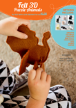 3D Felt Puzzle animals Stand Alone Cover
