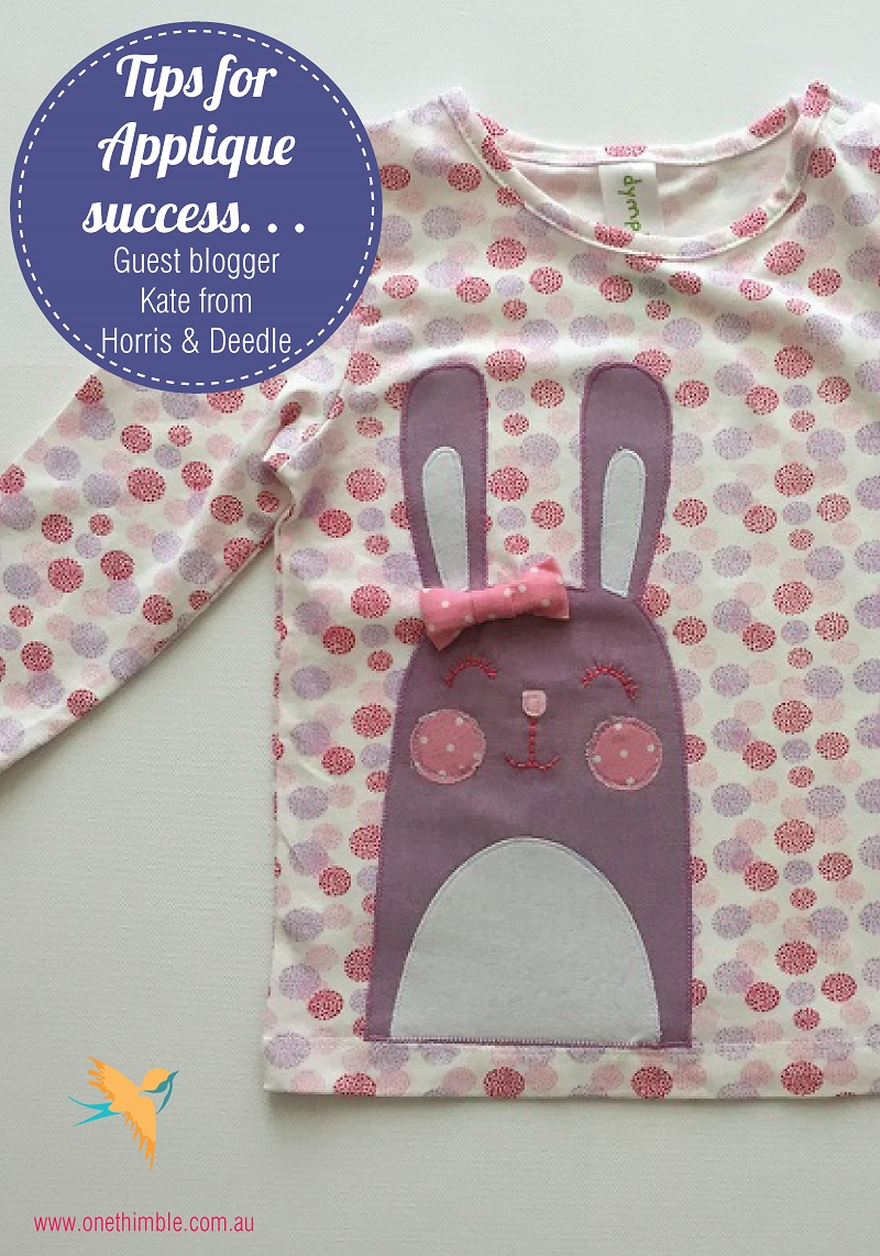 Applique Tips with Kate from Horris & Deedle-01