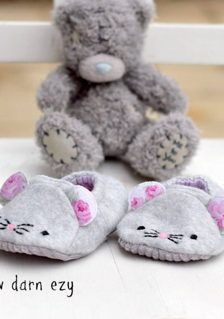 Wild Things Baby Shoes - Mice - Sewn by Sew Darn Ezy
