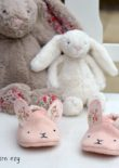 Wild Things Baby Shoes - Bunny - Sewn by Sew Darn Ezy