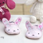 Wild Things Baby Shoes - Linen Bunny - Sewn by Sew Darn Ezy