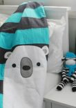 Bear & Bunny Quilt - Polar Bear option - photography & styling by Squiggly Monkeys, print by Lil Mate