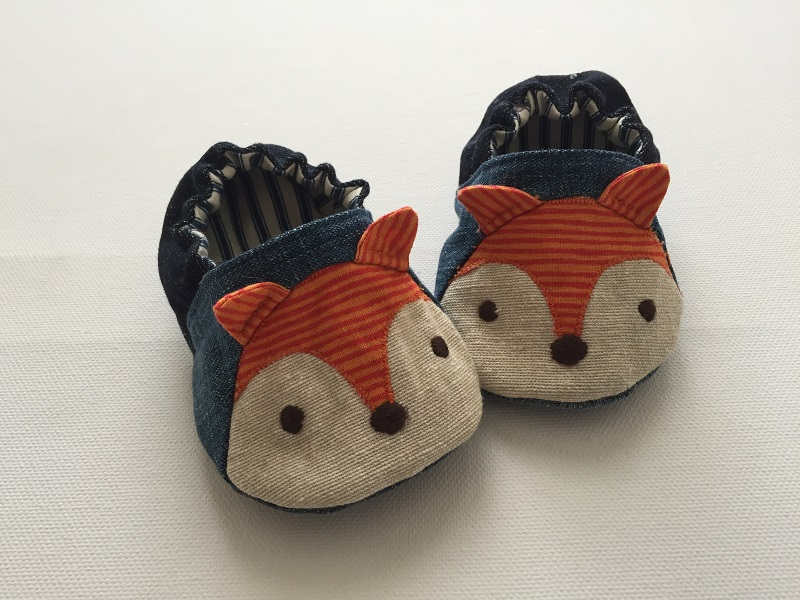 Wild Things Baby Shoes sewn by Horris & Deedle