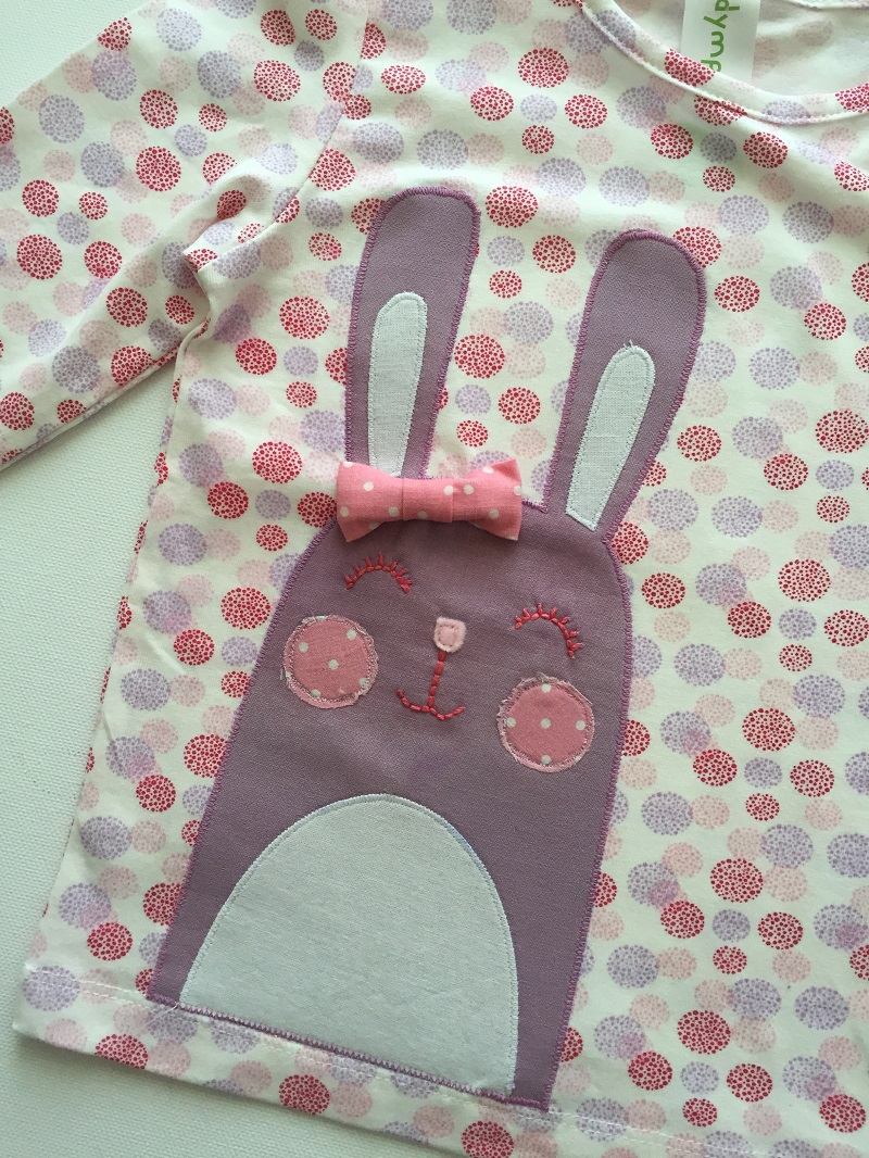 Miss Bunny applique by Horris & Deedle