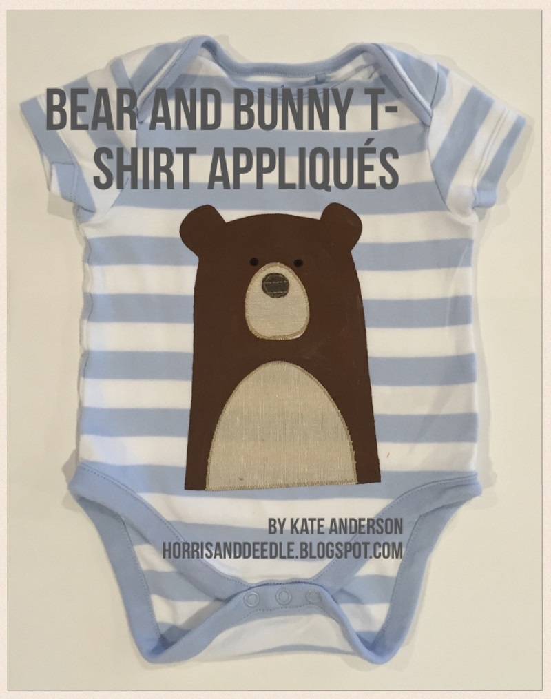 Bear & Bunny Appliques by Horris & Deedle