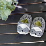 Wild Things Baby Shoes - Raccoon - Sewn by Rebecka