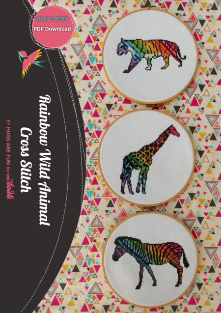Rainbow Wild Animal Cross stitch