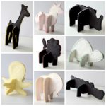 Options included in the 3D Felt puzzle animal pattern