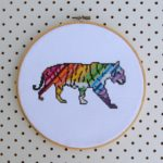 Tiger - Rainbow Wild Animal Cross Stitch by Hugs are Fun for One Thimble Issue 11