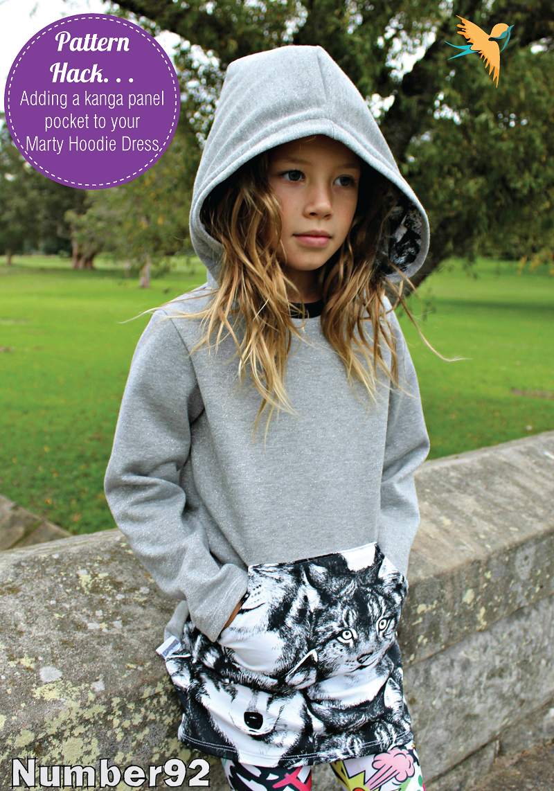 Adding a kanga pocket panel to your marty hoodie dress