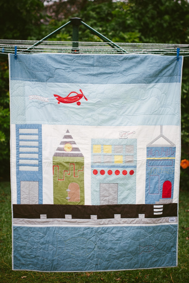 Horris&Deedle - paper city inspired quilt