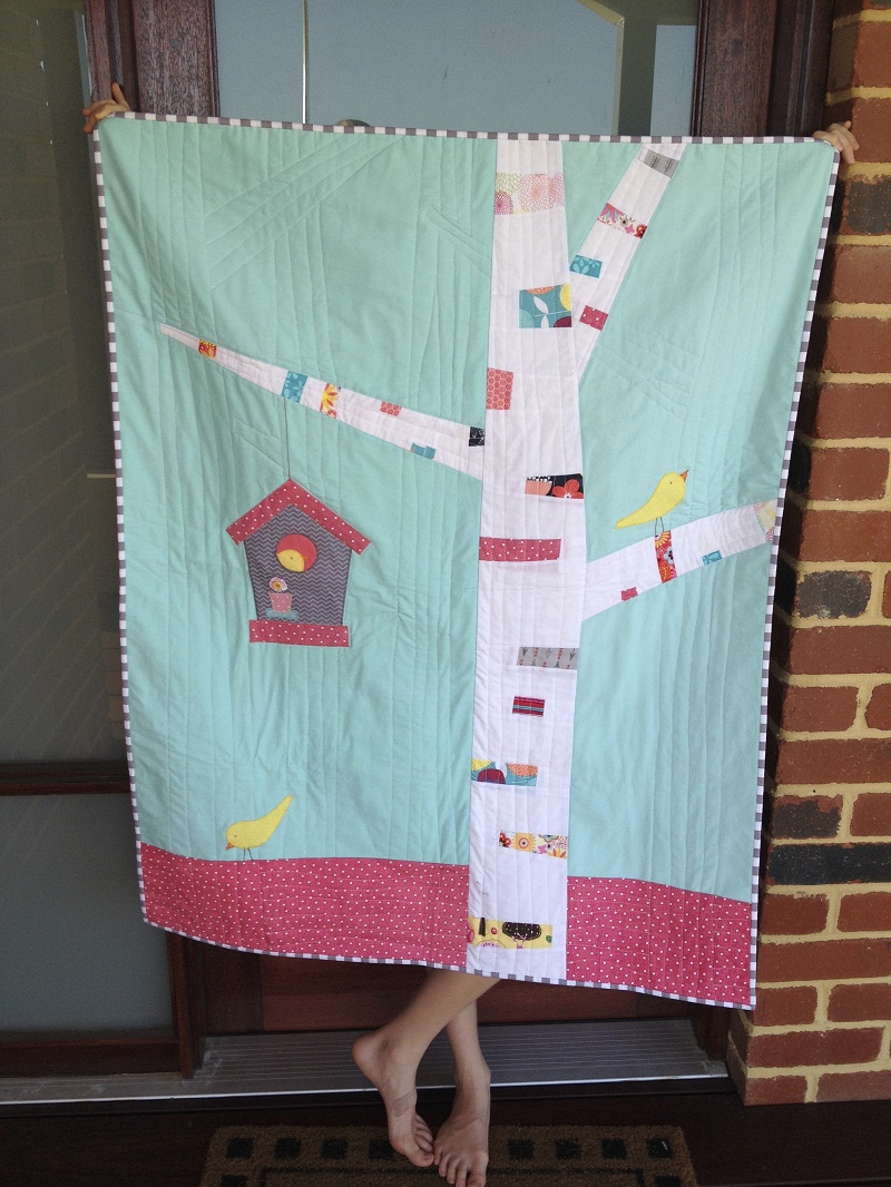 Horris & Deedle - bird and birdhouse quilt
