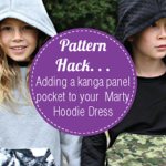 Make a Marty Hoodie dress with kanga panel pocket