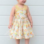 Azure party dress sewn by Primabella Creations