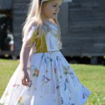 Azure Party Dress // Sewn by Sew darn ezy // Ainslee Fox Boutique Patterns