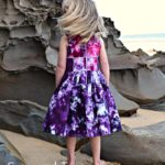Azure party dress full back sewn by Sam & I Designs