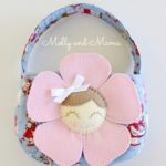 Dainty Daisy Bag in pink and blue