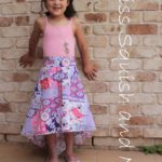 Brook Blossom Skirt sewn by Miss Squish and me