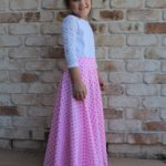 Maxi Brook Blossom Skirt sewn by Miss Squish and me