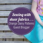 How to sew a sheer fabric Brook Blossom Skirt