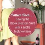 How to sew the Brook Blossom Skirt with a subtle high-low hem