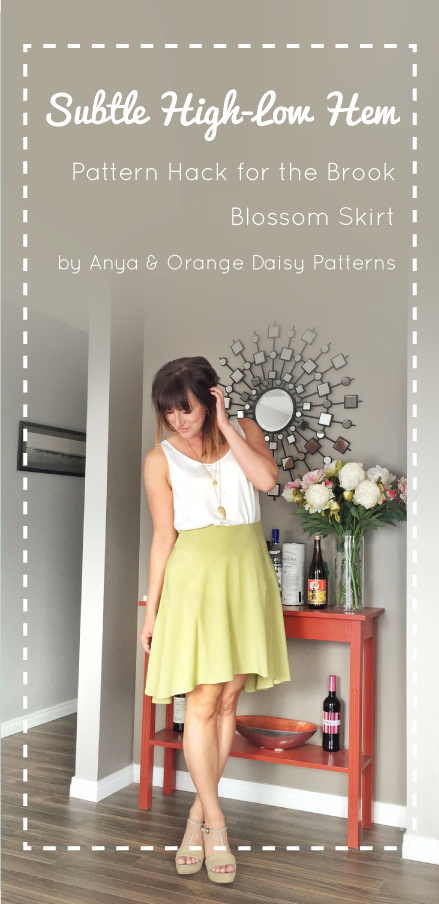 Subtle High Low Hem Pattern Hack for the Brook Blossom Skirt