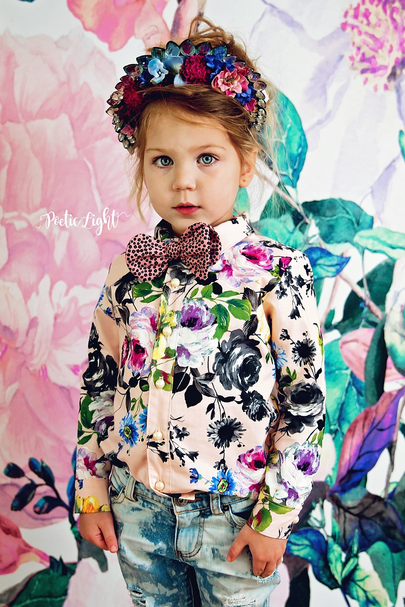 Floral on floral photoshoot inspiration
