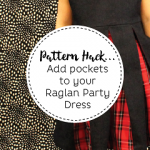 Ajaire pocket hack for the Raglan Party Dress