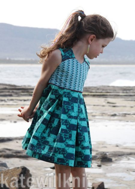 Raglan Party dress sewn by Kate Will Knit