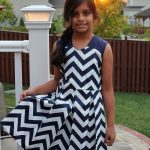Raglan Party dress sewn by Shalini