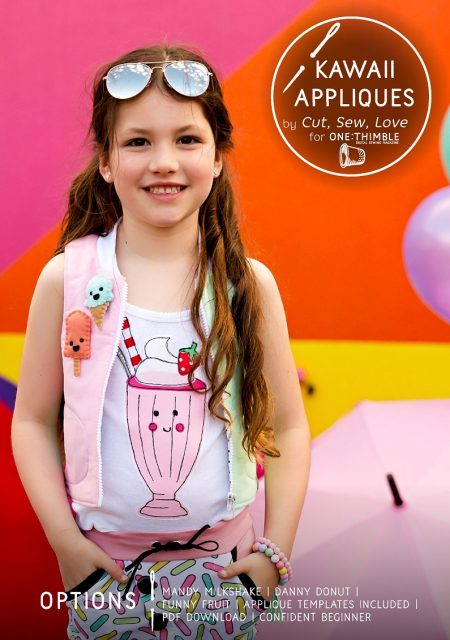 Kawaii Appliques by Cut, Sew, Love for One Thimble Issue 13